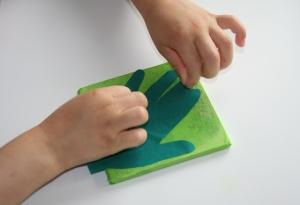 Add tissue paper hand