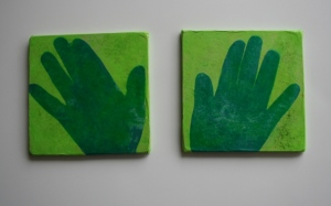 Tissue paper hand plaques