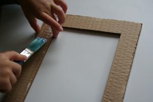 Glue round frame