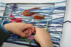 Weaving in fish