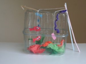 Fish tank puppet show