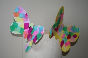 Clothes peg butterflies