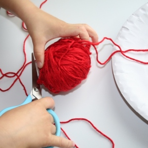 Cut coloured wool