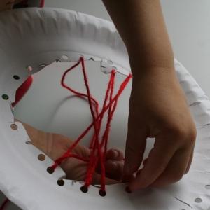 Thread holes through centre of plate
