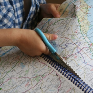 Cutting out the map