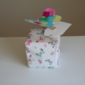 Butterfly on teacher's gift