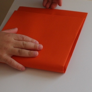 Folding envelope in half