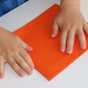 Pressing down the fold