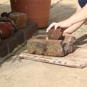 Ted building brick sculptures