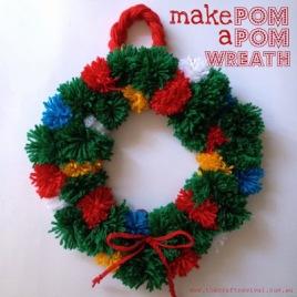 Pompom wreath from www.thecraftrevival.com.au