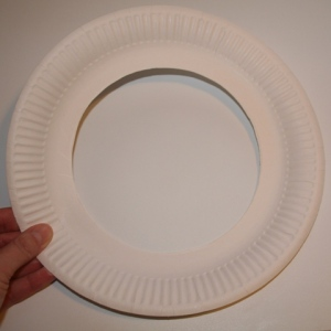 Paper plate with middle cut out
