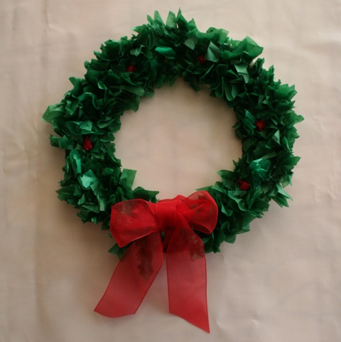 Paper Plate Christmas Wreath Pebble And Scribble