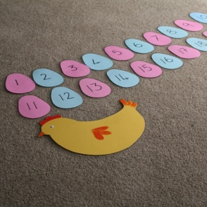 Easter Egg hunt numbers game