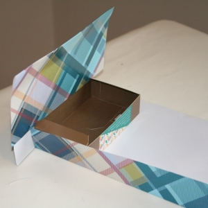 Cover chocolate box with paper