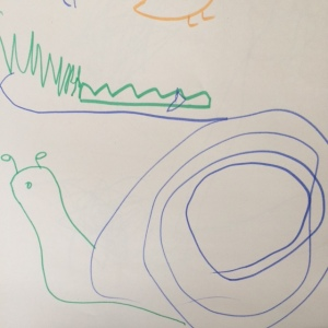 Shape game snail and crocodile