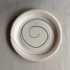 Spiral on paper plate